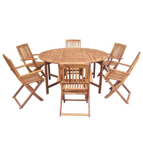 Набор из семи предметов для кухни из натуральной кожи Acacia Wood