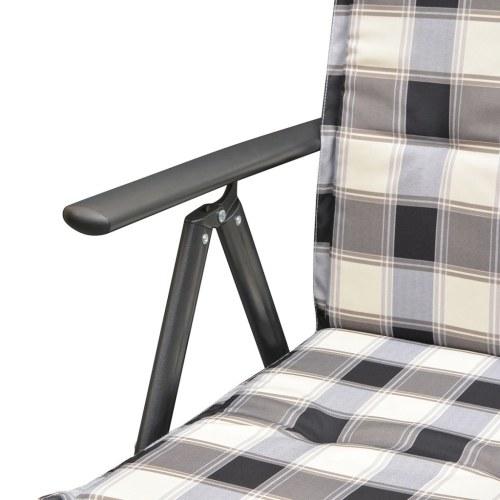 9 шт. Садовый обеденный стол с обивочным алюминиевым покрытием из ротанга
