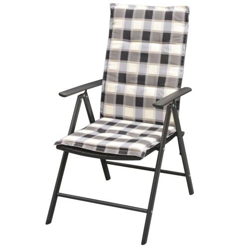 Садовые стулья с накладкой 2 шт. Поли ротанга из алюминия