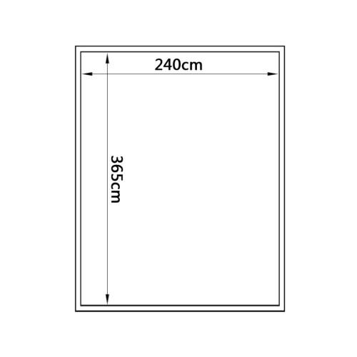 Парниковый поликарбонат и алюминий 371 × 250 × 195 см