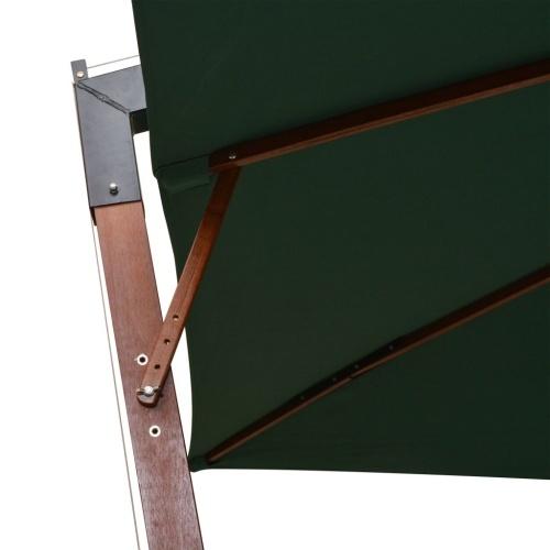 Parasol Ampelschirm 300 x 300 см деревянная мачта зеленая