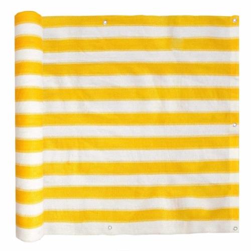 Balkonsieb HDPE 90x600 cm Gelb und Weiß