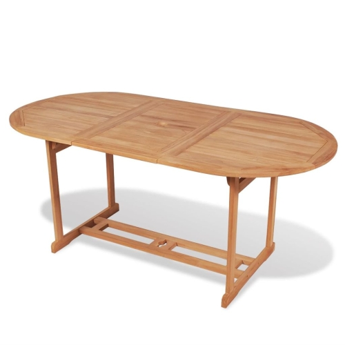 Outdoor Dining Table 180x90x75 cm Teak