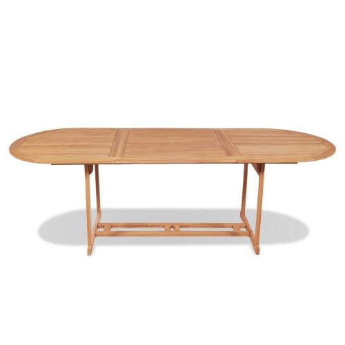 Mesa de comedor al aire libre 240x90x75 cm Teca