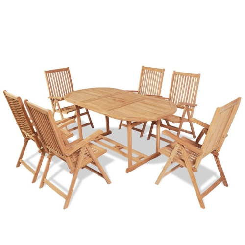 Seven Piece Outdoor Dining Set Teak
