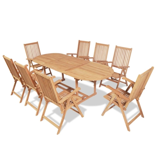 Nine Piece Outdoor Esszimmerset Teak