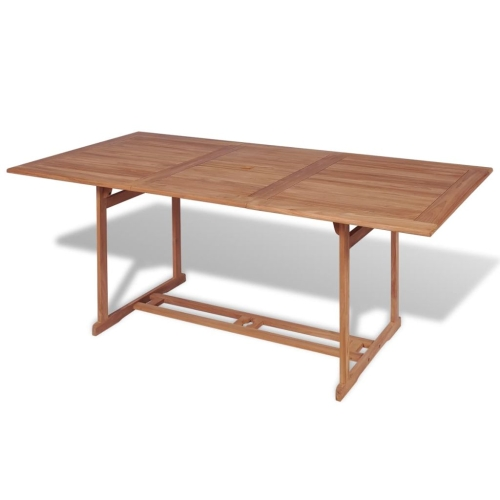 Outdoor Dining Table Rectangular 180x90x75 cm Teak