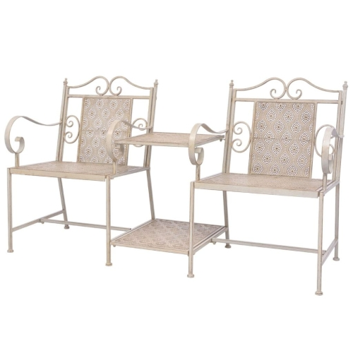 Garden Loveseat Steel White