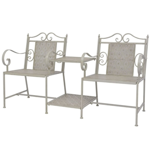 Garden Loveseat Steel Grey
