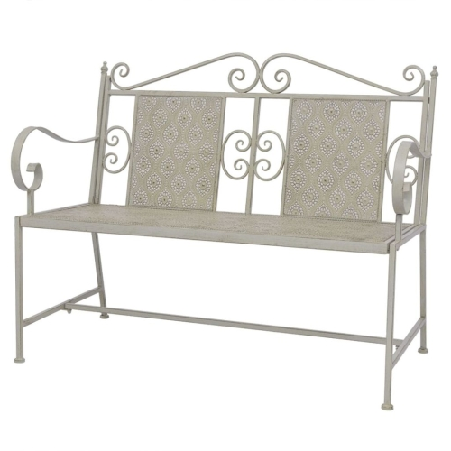 Garden Bench Steel 115x58.5x93 cm Grey
