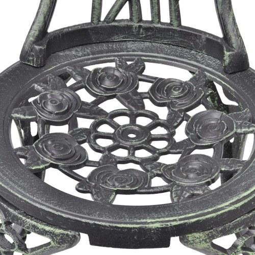 Bistro Grinder 2 pezzi in fusione di alluminio verde 41 x 49 x 81,5 cm