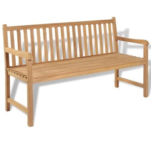 Garden bench teak 150 × 62.5 × 90 cm 43247DE