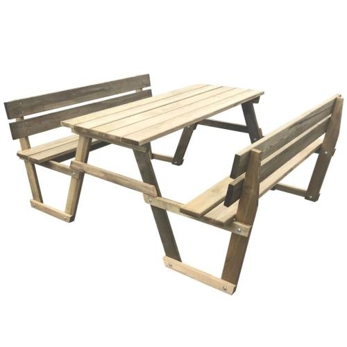 Стол для пикника с 2 скамьями Пропитанный сосновый лес