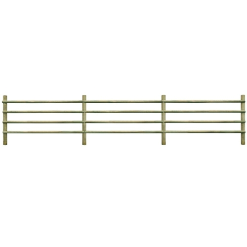 Garden Fence Impregnated Pinewood 100% FSC 6 m