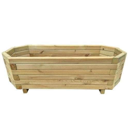 Плантатор 100x40x31 см сосновая древесина, пропитанная