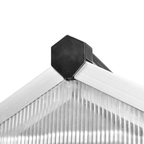 Invernadero con estructura de aluminio 10.53 m²