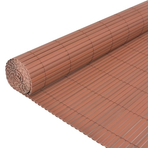 Garden fence Double sided 90 x 500 cm Brown