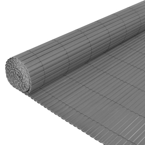 Garden fence Double sided 90 x 500 cm Gray