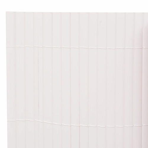 Garden fence double-sided 195 กม 500 cm white