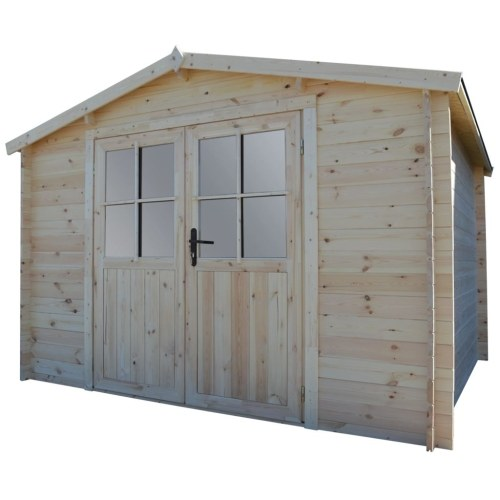 28 mm 3.1 x 3 m garden house log cabin solid wood