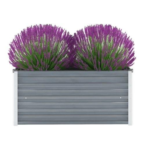 Cama de jardín elevada de acero galvanizado 100x40x45 cm gris