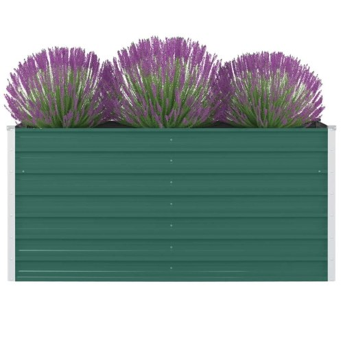 Cama elevada 160 x 80 x 77 cm acero galvanizado verde