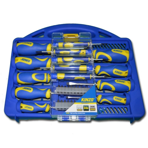 Kinzo Screwdriver Set 34 pcs CR-V ST