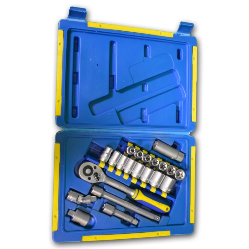 Kinzo Ratchet Wrench & Socket Bit Set with Toolbox 21 pcs