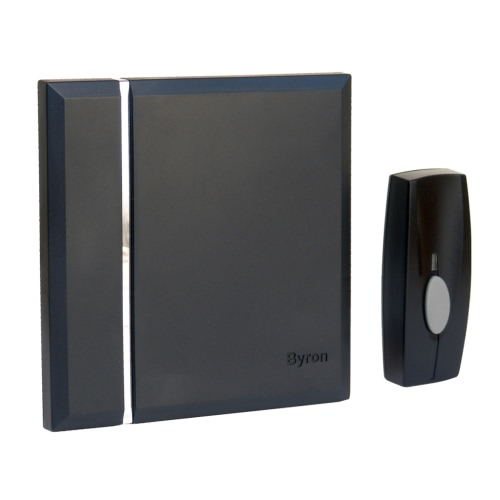 Byron Wireless Chime Doorbell with 4 Tones Black
