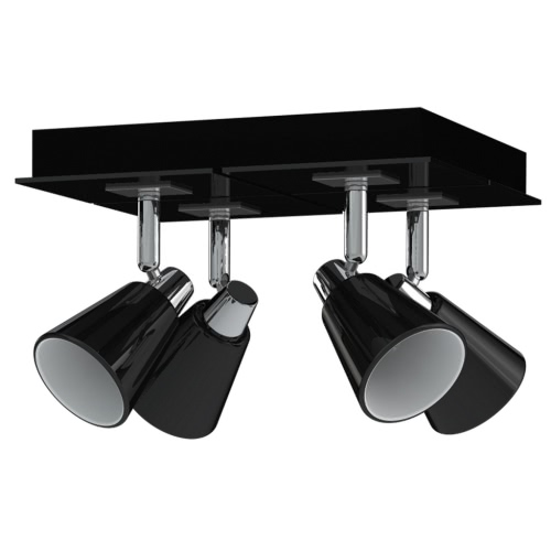 Antonio Miro Spotlight Ceiling Lamp Chrome Black 4 Bulbs
