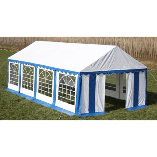 Вечеринка для палаток Верхняя и боковые панели 8 х 4 м Синий и белый