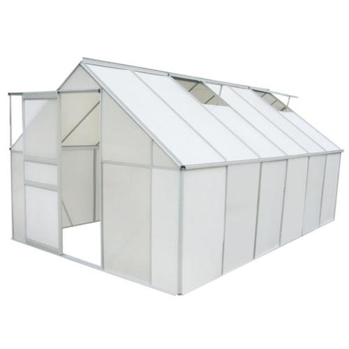 Greenhouse 12' x 8' Polycarbonate & Aluminium