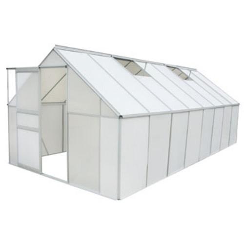 Greenhouse 12.25 m2. Polycarbonate & Aluminium