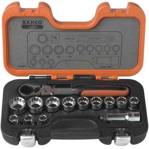 Bahco Pass-Through Socket Set 14 pcs S140T