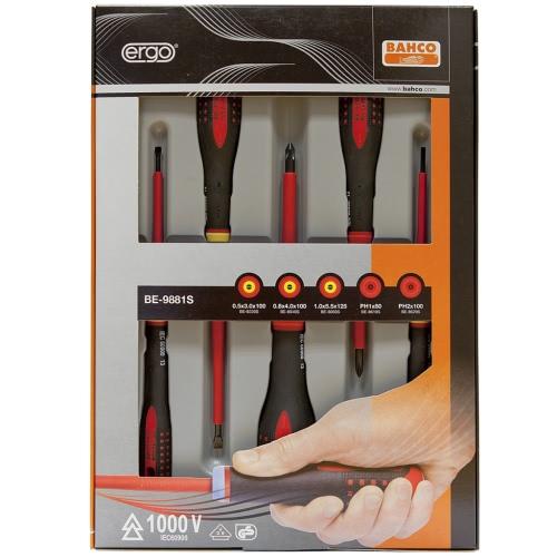 Bahco Ergonomically Designed Screwdrivers Set 5 pcs