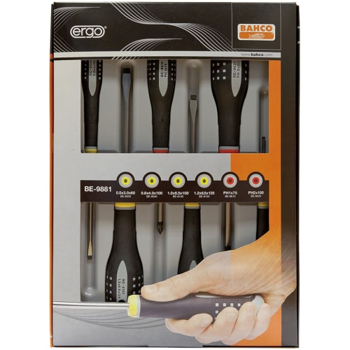 Bahco Ergonomic Screwdriver Set 6 pcs