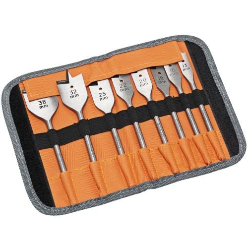 Bahco 8-Piece Flat Wood Drill Bit Set SB-9529/S8