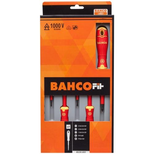BAHCO 5 pcs Screwdriver Set B220.005
