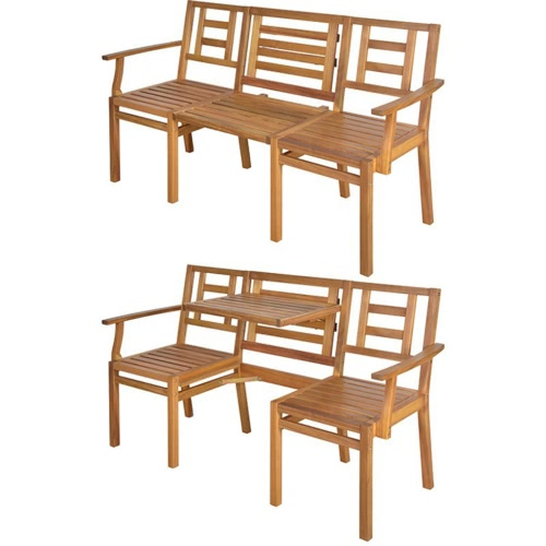 Esschert Design Convertible Wooden Chat Bench BL057