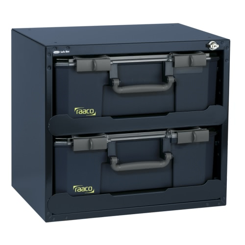 Raaco Safe Box with 2 CarryLite 150 Assortment Boxes 136396