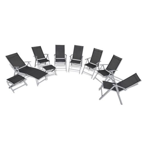9-piece Aluminium Garden Chair Set