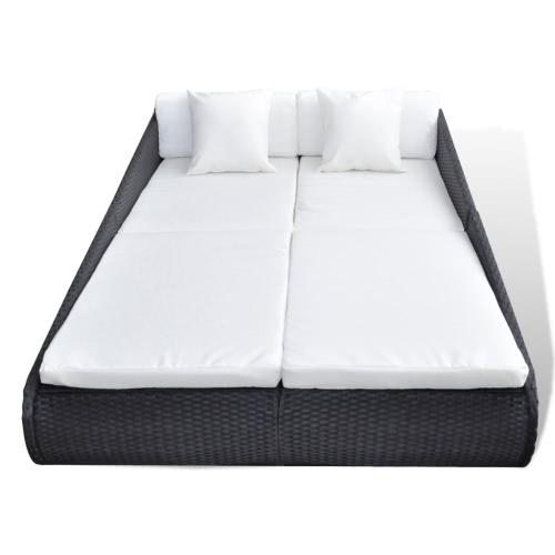 Double Sun Bed Noir