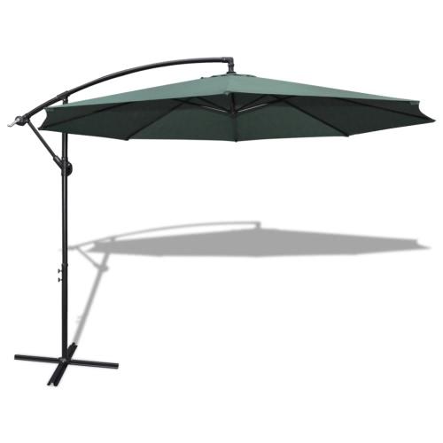 Открытый Большой Подвесная Зонтик 3,5 м Зеленый Алюминиевый полюс