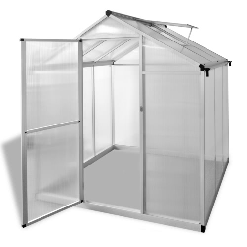 Reinforced Aluminium Greenhouse with Base Frame 3.46 m2