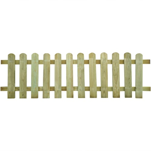 Wood Picket Fence 200 x 60 cm
