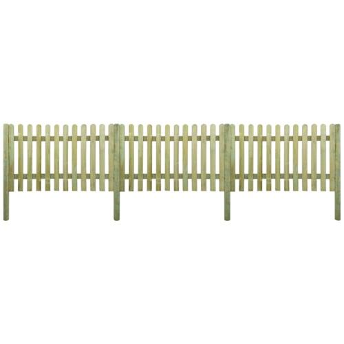 6 m valla de estacas con madera de alta Mensajes 120 cm