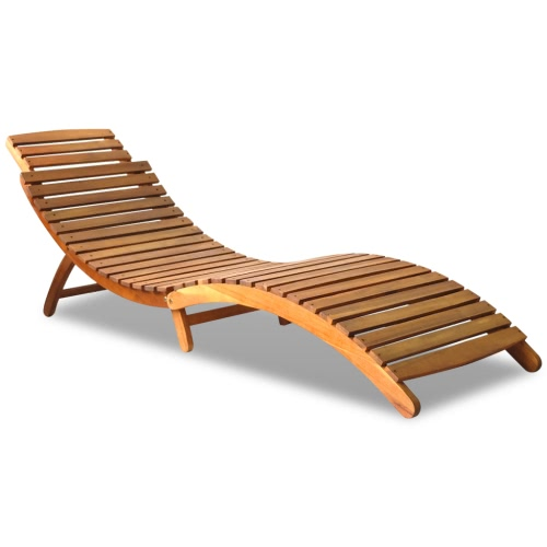 Outdoor Foldable Sun Lounger Acacia Wood