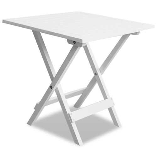 Outdoor Coffee / Side Table Acacia Wood White