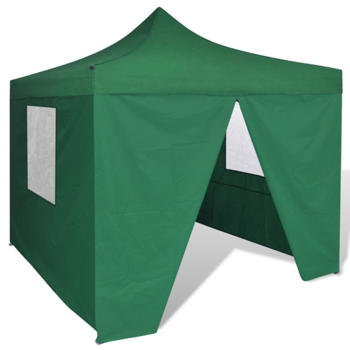 Green Foldable Tent 3 x 3 m with 4 Walls
