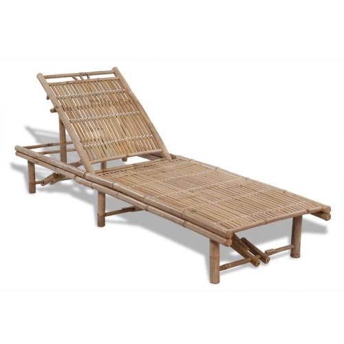 Réglable Bamboo Sun Lounger